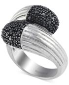 Balissima By Effy Black Diamond Ring (3/5 Ct. T.w.) In Sterling Silver