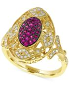 Effy Ruby (1/5 Ct. T.w.) And Diamond (1/6 Ct. T.w.) Ring In 14k Gold