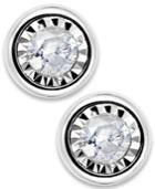 Trumiracle Diamond Earrings, 10k White Gold Diamond Bezel Stud Earrings (1/10 Ct. T.w.)