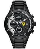 Scuderia Ferrari Men's Chronograph Redrev Evo Black Ion-plated Bracelet Watch 46mm 0830267