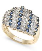 Sapphire (2-1/2 Ct. T.w.) And Diamond (1/2 Ct. T.w.) Ring In 14k Gold