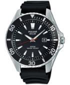 Pulsar Men's Solar Sport Black Strap Watch 44mm Px3037
