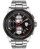 Scuderia Ferrari Men's Chronograph Formula Italia S Stainless Steel Bracelet Watch 46mm 0830317