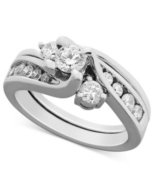 Diamond Ring, 14k White Gold Certified Diamond Bridal Set (1 Ct. T.w.)