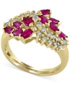Ruby Royale By Effy Ruby (1-1/8 Ct. T.w.) And Diamond (1/3 Ct. T.w.) Ring In 14k Gold