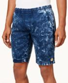 Lrg Men's Smiley Face Acid-wash Shorts
