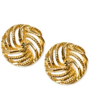 Decorative Love Knot Stud Earrings In 10k Gold