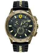 Scuderia Ferrari Men's Chronograph Scuderia Xx Black Silicone Strap Watch 48mm 830244