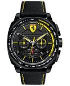 Scuderia Ferrari Men's Chronograph Aero Evo Black Kevlar Strap Watch 46mm 830165