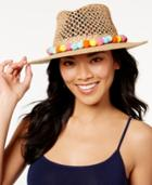 August Hat Multi Color Pom Pom Hat