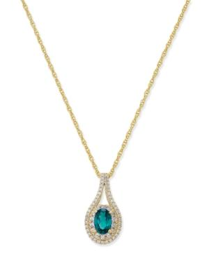 Certified Ruby (1/2 Ct. T.w.) & Diamond (1/4 Ct. T.w.) Pendant Necklace In 14k Gold (also Emerald & Sapphire)