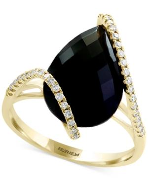 Eclipse By Effy Onyx & Diamond (1/5 Ct. T.w.) Ring In 14k Gold