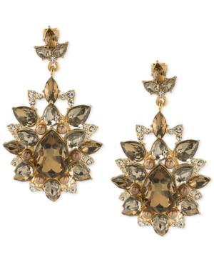 Carolee Gold-tone Crystal Chandelier Earrings