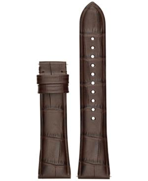 Emporio Armani Connected Brown Leather Smart Watch Strap