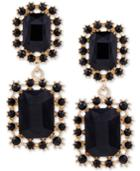 Guess Gold-tone Crystal Double Drop Earrings