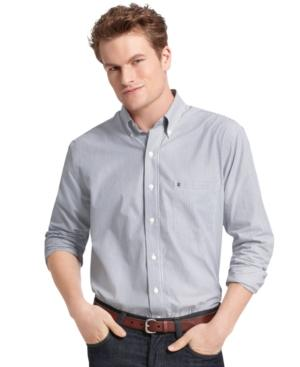 Izod Shirts, Long Sleeve Stripe Essential Shirt