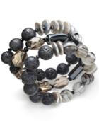 Paul & Pitu Naturally 3-pc. Cultured Freshwater Pearl (12mm) And Lava Bead Leather Bracelet