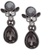 Givenchy Clear & Colored Stone Drop Earrings
