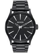 Nixon Men's Sentry Black Stainless Steel Bracelet Watch 42mm A356-502-00