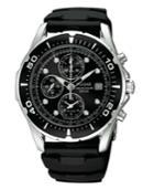 Pulsar Watch, Men's Black Polyurethane Strap Pf3293