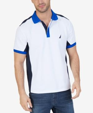 Nautica Men's Classic-fit Heritage Colorblocked Embroidered-logo Polo