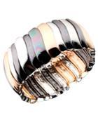 Nine West Bracelet, Tri Tone Stretch Bracelet