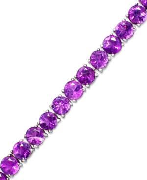 Sterling Silver Bracelet, Amethyst (14 Ct. T.w.)