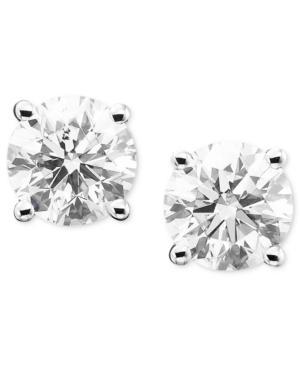 Diamond Earrings, 14k White Gold Diamond Studs (2 Ct. T.w.)