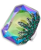 Swarovski Gisele Silver-tone Prismatic Crystal Statement Ring