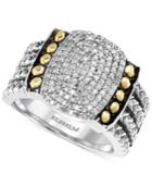 Balissima By Effy Diamond Statement Ring (1/3 Ct. T.w.) In Sterling Silver And 18k Gold