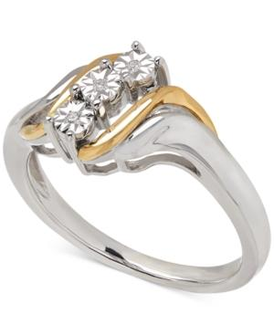 Diamond Accent Ring In 14k Gold And Sterling Silver