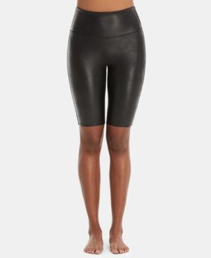 Spanx Faux-leather Bike Shorts