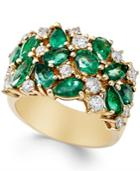 Emerald (2-3/4 Ct. T.w.) And Diamond (7/8 Ct. T.w.) Ring In 14k Gold