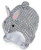 Kate Spade New York Silver-tone Crystal Bunny Ring