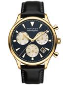 Movado Men's Swiss Chronograph Heritage Series Calendoplan Black Leather Strap Watch 43mm 3650006
