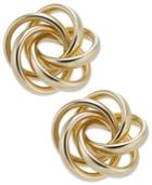 14k Gold Love Knot Stud Earrings