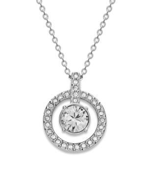 Swarovski Necklace, Double Circle Crystal Pendant