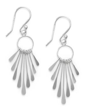 Giani Bernini Sterling Silver Earrings, Paddle Drop Earrings