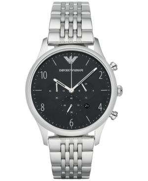Emporio Armani Men's Chronograph Stainless Steel Bracelet Watch 43mm Ar1863