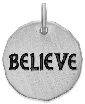 Rembrandt Charms Sterling Silver Believe Tag Charm