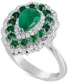 Effy Emerald (2 Ct. T.w.) & Diamond (3/8 Ct. T.w.) Ring In 14k White Gold