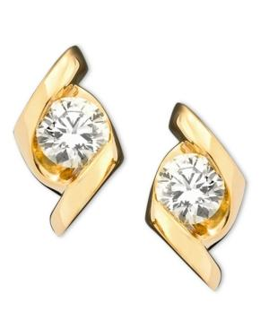 Sirena Earrings, 14k Gold Diamond Stud (1/3 Ct. T.w.)