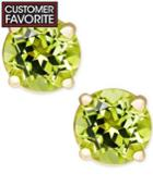 Peridot Stud Earrings In 14k Gold (1 Ct. T.w.)