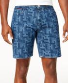 Tommy Hilfiger Men's Printed Denim Shorts
