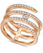 Swarovski Coiled Crystal Pave Statement Ring