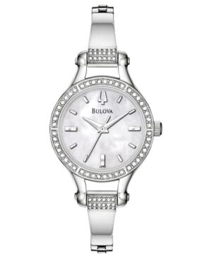Bulova Watch, Women's Stainless Steel Bracelet 96l128