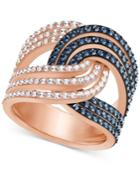 Swarovski Rose Gold-tone Crystal Knot Ring