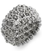 Style&co. Bracelet, Silver-tone Chain And Bead Stretch Bracelet