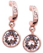 Givenchy Earrings, Rose Gold-tone Swarovski Silk Crystal Drop Earrings