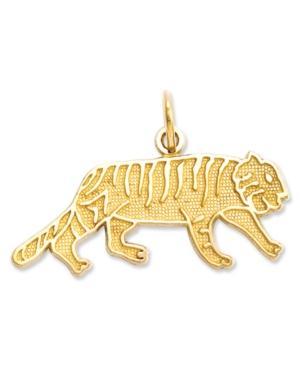 14k Gold Charm, Tiger Charm